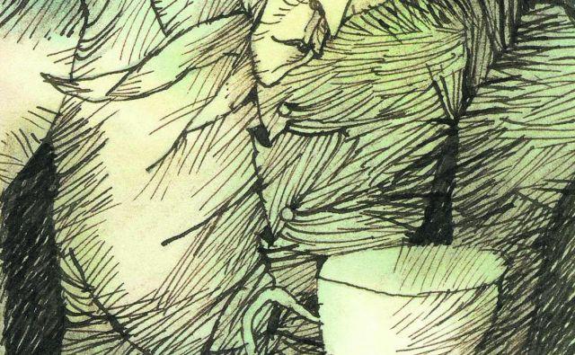 Cankarjeva mati, katere podoba se ni ohranila v nobeni obliki, se tudi v slikanici pojavi le enkrat, takrat, ko z žarečimi očmi prinese kavo sinu. Ilustracije Peter Škerl