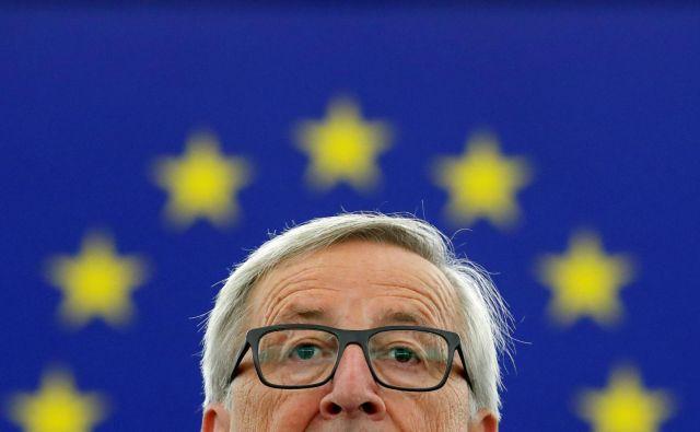 Jean-Claude Juncker meni, da je voljo ljudi treba upoštevati. FOTO: Christian Hartmann/Reuters