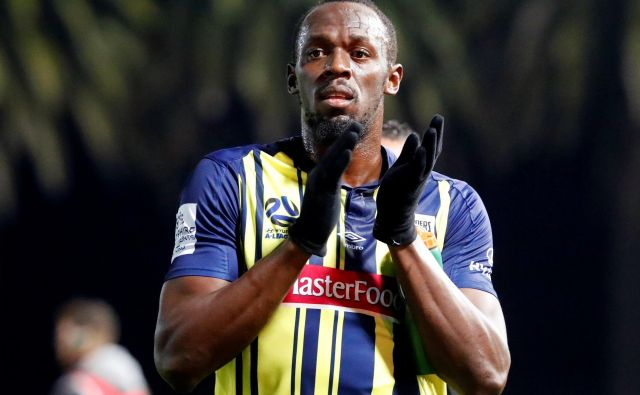 Usain Bolt je debitiral v profesionalnem nogometu. FOTO: Reuters