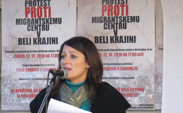 Maja Kocjan, predstavnica CI proti migrantskemu centru v Beli krajini. FOTO: Bojan Rajšek/Delo