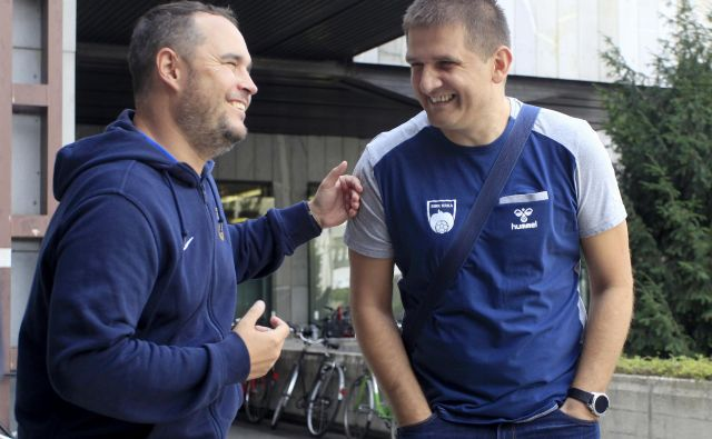 Prijatelja Branko Tam�e in Mirko Skoko (desno) bosta tekmeca na nocojšnji prvi tekmi sezone. FOTO: Roman Šipić