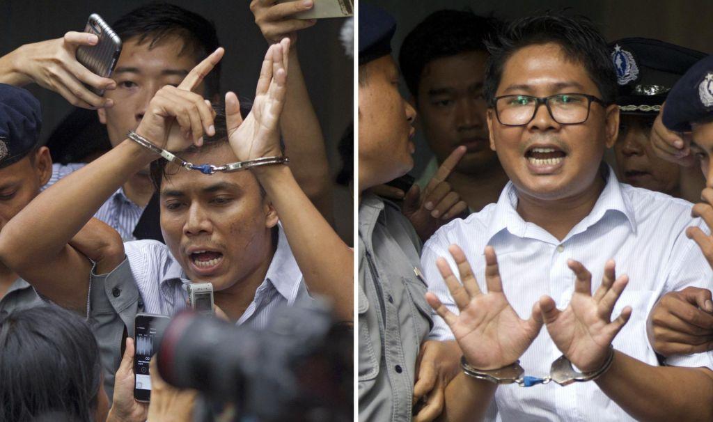 Novinarja obsodili na sedem let zapora, ker sta poročala o nasilju nad Rohingi