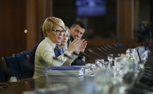 Predstavitev kandidatke za ministrico za kmetijstvo, gozdarstvo in prehrano Aleksandre Pivec pred odborom za kmetijstvo, gozdarstvo in prehrano FOTO: Leon Vidic