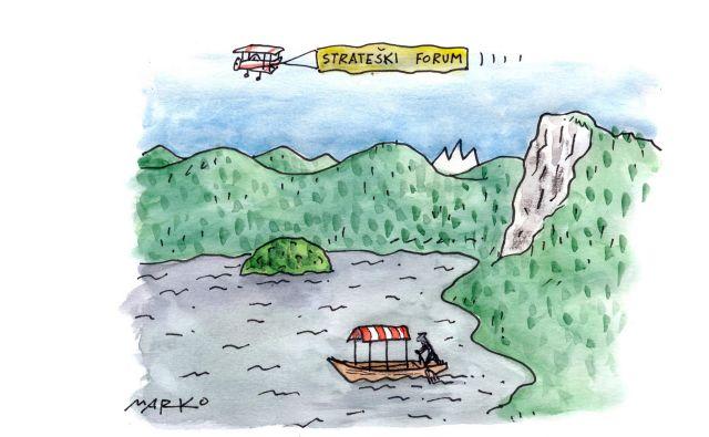 Zvezdniška zasedba ni vse, težko jo je dobiti, mnogi prihajajo samo za visoke honorarje. Karikatura: Marko Kočevar