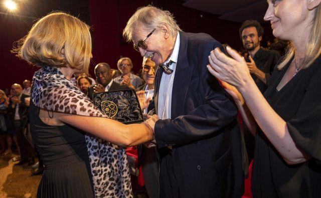 Prejemnik Badjurove nagrade za življenjsko delo 2018 je režiser in scenarist Tugo Štiglic FOTO: Matjaž Rušt