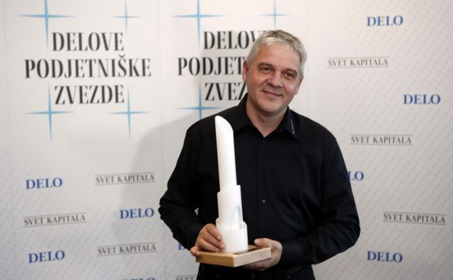 Lanski in prvi dobitki nagrade Delova podjetniška zvezda je podjetje Dewesoft, ki ga vodita Andrej Orožen (na fotografiji) in Jure Knez. Foto Blaž Samec