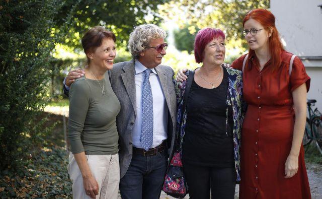 Kandidati za novega predsednika DSP: Draga Potočnjak, Marij Čuk, Aksinja Kermauner in Gabriela Babnik. Foto Bla�ž Samec