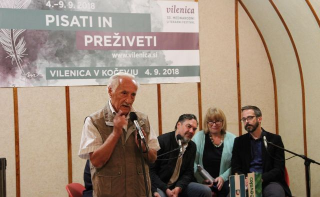 """""""Kočevska je pomembna, ker je dala Sloveniji nazaj Primorsko,"""" pravi Veno Taufer, pobudnik in dolgoletni vodja festivala Vilenica. Foto Simona Fajfar"""