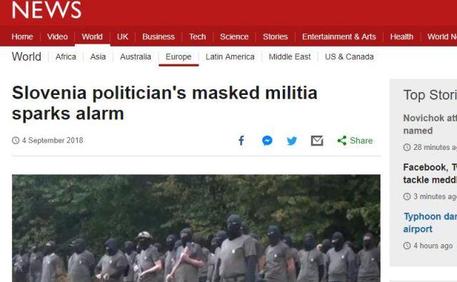 BBC poroča o Šiškovi paravojski. FOTO: BBC