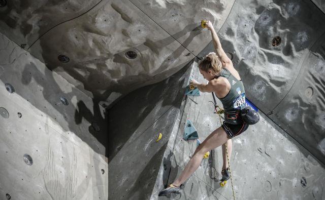 Janja Garnbret je glavna kandidatka za nov naslov svetovne prvakinje. FOTO: Uroš Hočevar/Delo