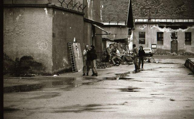 Pogled na Metelkovo leta 1993.