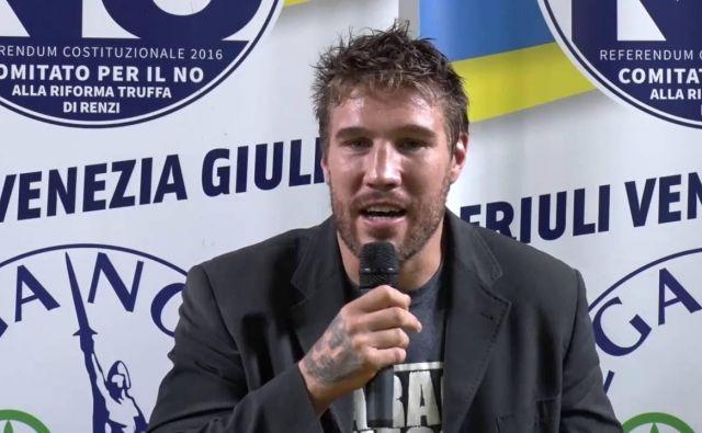Forza Nuova se je lani prvič prebila v tržaški mestni svet po zaslugi nekdanjega boksarskega prvaka Fabia Tuiacha. FOTO: Youtube