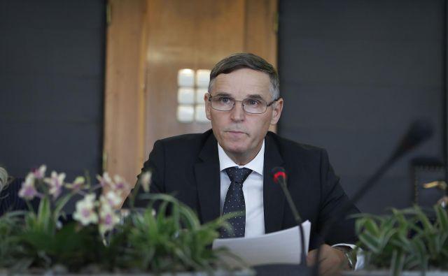 Bertoncelj je napovedal prenovo strategije upravljanja kapitalskih naložb ter nadaljevanje aktivnosti za ustanovitev demografskega sklada. Foto Leon Vidic