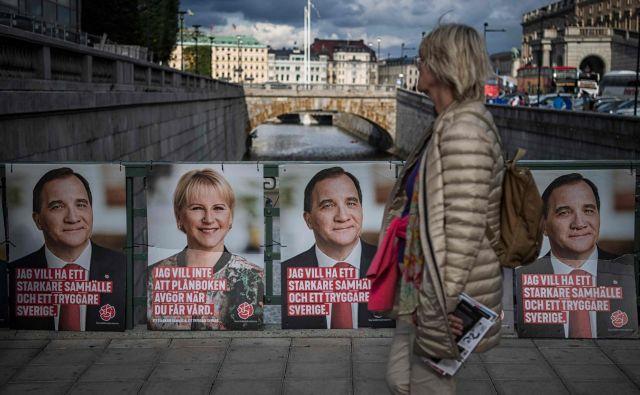 Včerajšnje švedske volitve so bile ene najbolj spremljanih v zgodovini. FOTO: Jonathan NACKSTRAND / AFP