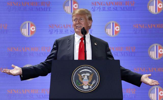 Ameriški predsednik Donald Trump FOTO: AP