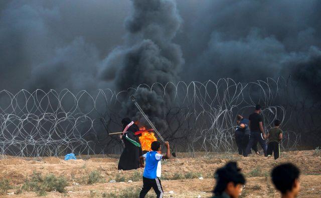 V streljanju vojske je bil ubit mladoletni Palestinec. FOTO: Said Khatib/Afp