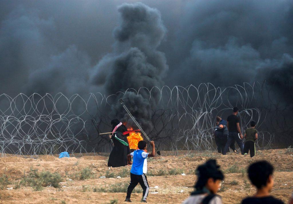 Protesti v Gazi terjali smrtno žrtev