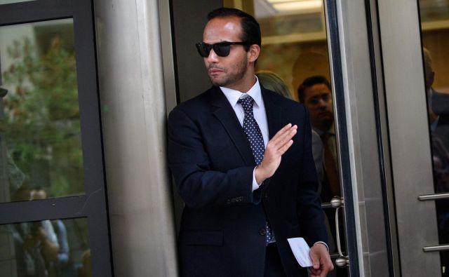 GeorgePapadopoulos je preiskovalcem januarja 2017 najprej zanikal, da je imel stike z Rusi med kampanjo leta 2016, oktobra istega leta pa si je premislil, priznal, da se je zlagal in začel sodelovati s preiskavo. FOTO: AFP