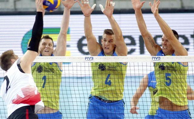 Pri bloku so bili Slovenci nekoliko manj prepričljivi od tekmecev. FOTO: Roman Šipić/Delo