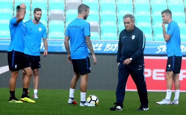 Selektor Tomaž Kavčič bo imel še veliko dela z uigravanjem pomlajene reprezentance.