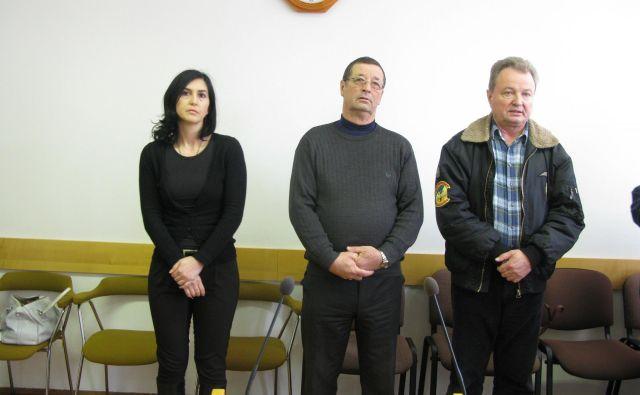 Irenca Ocvirk, Franc Jazbec in Stanko Zakelšek so od začetka postopka trdili, da niso krivi. FOTO: Špela Kuralt/Delo