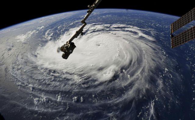 Posnetek agencije NASA na orkan Florence FOTO: AP