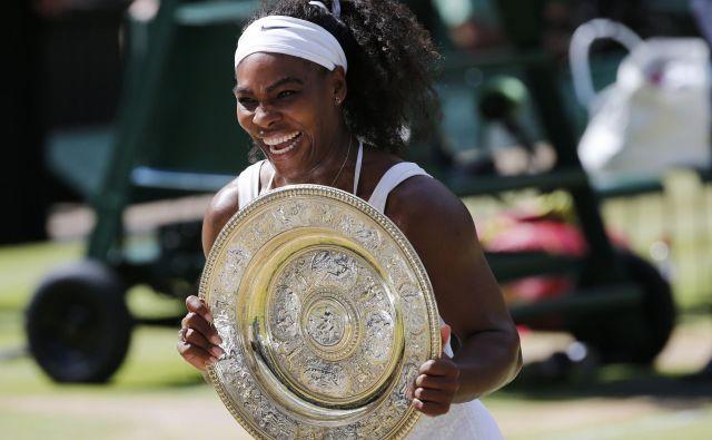 Na Wimbledonu 2015 je Američanka zaokrožila Serenin slam, drugega v karieri, saj je osvojila štiri turnirje za veliki slam zapored. Foto Reuters
