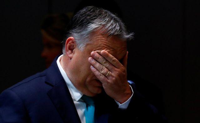 Madžarskega premiera Viktorja Orbána čakajo ostre kritike evropskih poslancev. FOTO: Francois Lenoir/Reuters