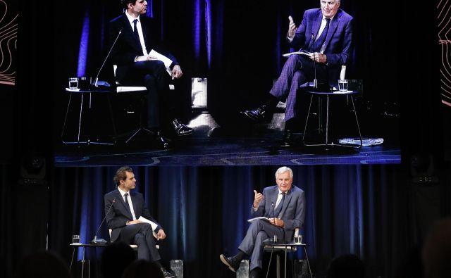 Na sliki Michel Barnier. Strateški Forum Bled 2018. Bled, 10. september 2018 Foto Leon Vidic/delo