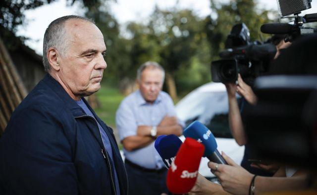 Milko Novič po izpustitvi iz zapora na Dobu FOTO: Uroš Hočevar/Delo