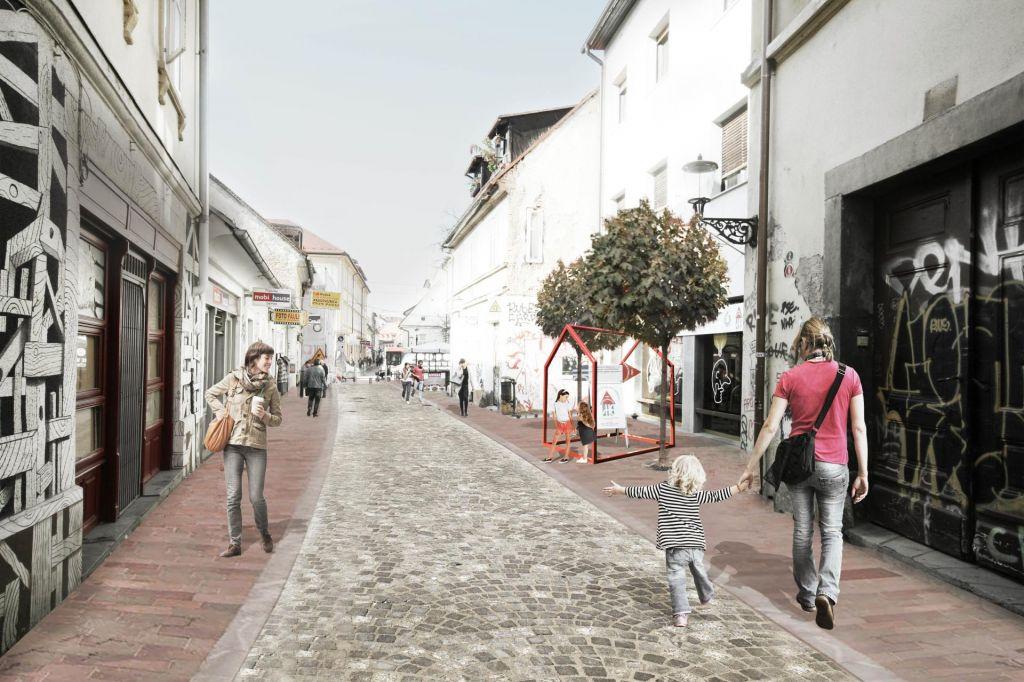 FOTO:Ljubljana bo za leto dni ostala brez Trubarjeve ulice
