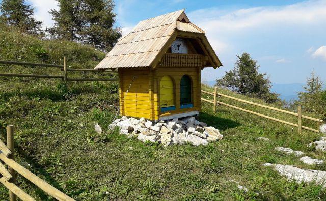 Najvišje ležeči slovenski čebelnjak ima le dva panja. FOTO: Anica Vogel