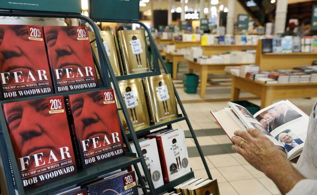 Trump trdi, da je knjiga izmišljotina, saj naj bi avtor imel »težave z vsemi predsedniki«. FOTO: Shannon Stapleton/Reuters