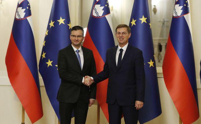 Primopredaja poslov med dosedanjim in novim premierjem FOTO: Leon Vidic