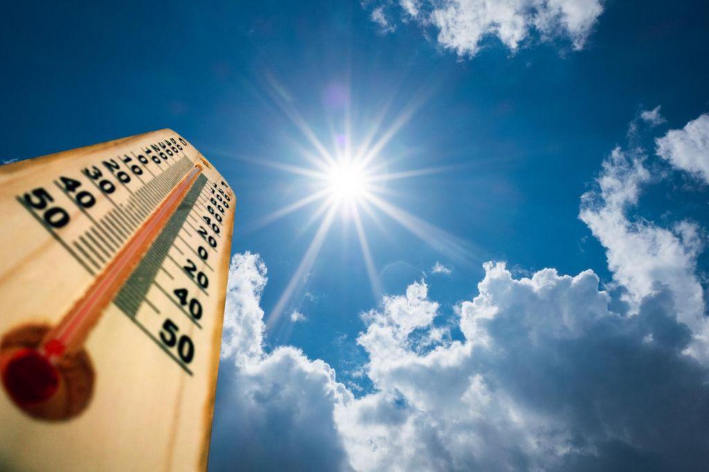 Za to obdobje merimo nadpovprečno visoke temperature