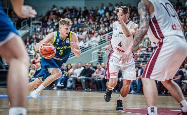 Luka Rupnik je bil prvi slovenski strelec v Rigi. FOTO: FIBA