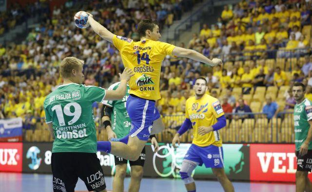 Matic Grošelj je dosegel dva gola, njegovi Celjani pa niso zmogli premagati danskih tekmecev. FOTO: Leon Vidic