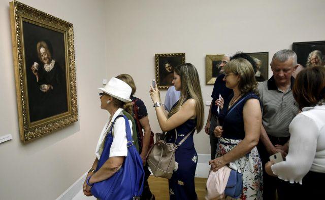 Otvoritev razstave Ivane Kobilca v Narodni galeriji 20.junija letos. FOTO: Blaž Samec/Delo