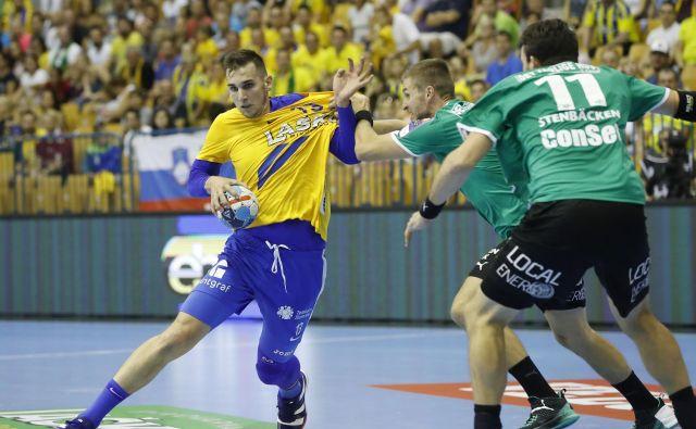 Josip Šarac je na prvi tekmi v ligi prvakov dosegel tri gole. FOTO: Leon Vidic