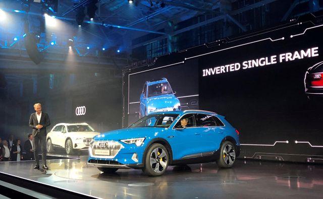E-tron, prvi Audijev povsem električni avtomobil z dosegom okoli 400 kilometrov. FOTO: Reuters