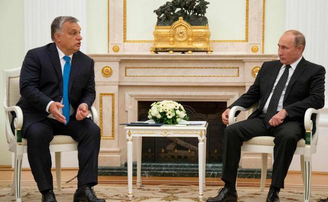 Glavna tema Orbánovega obiska pri Putinu je bilo gospodarsko in trgovinsko sodelovanje. FOTO: AFP