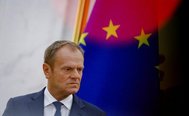 Predsednik evropskega sveta Donald Tusk je v vabilu voditeljem držav članic zapisal, da je »omejevanje škode, povzročene z brexitom, skupni interes«. Foto Reuters