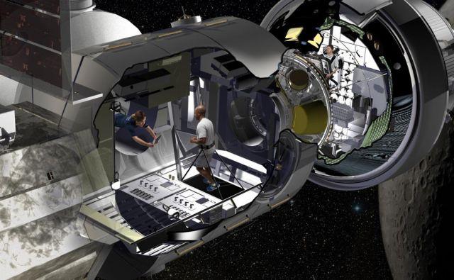 Pri Lokheed Martinu so pripravili koncept bivalnega modula za načrtovano postajo Deep Space Gateway. FOTO: Lockheed Martin