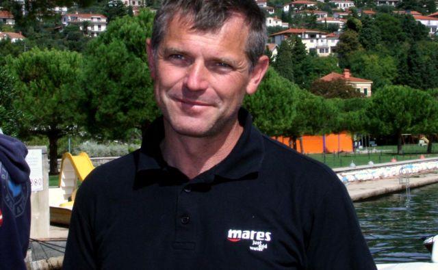 Damir Podnar je vodja ekipe za tehnično potapljanje pri URSZR. FOTO: Arhiv Dela