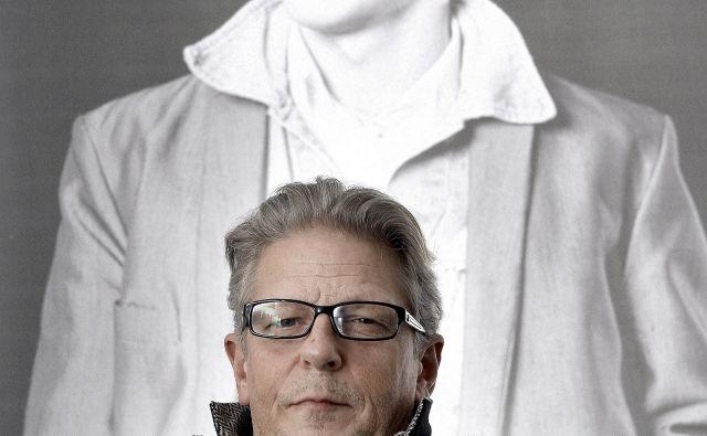 Jan Fabre - umetnik in njegov dvojnik. FOTO Blaž Samec