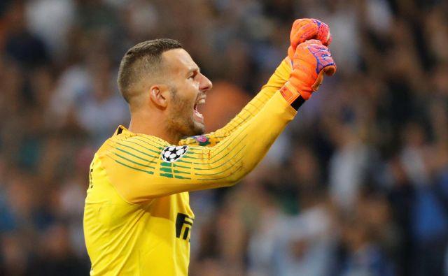 Samir Handanović je bil po zmagi opazno navdušen.