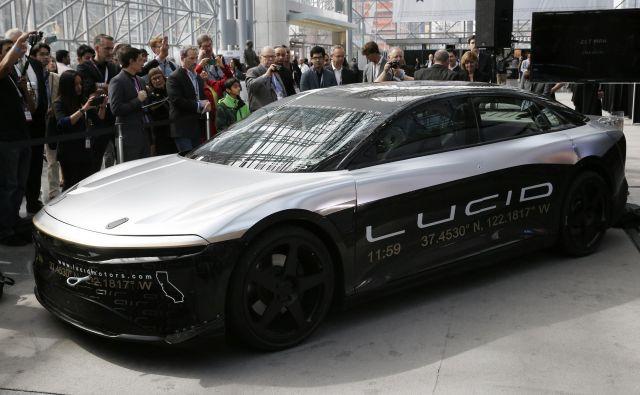 Lucid avtomobile šele razvija, prvega tržnega nameravajo ponuditi leta 2020. Foto Reuters