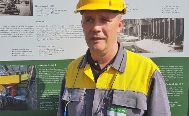 Za preprečevanje nesreč pri delu je najpomembnejša preventiva, pravi Iztok Trafela. Foto Talum