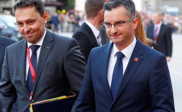 Premier Marjan Šarec se je med neuradnim vrhom EU v Salzburgu opazno veliko gibal v krogih liberalnih voditeljev, predvsem premierov držav Beneluksa. FOTO: Leonhard Foeger/Reuters
