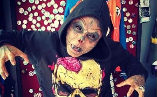 Kolumbijec Kalaka Skull menda edini, ki si je v iskanju želene podobe dal odrezati ušesa in nos.FOTO: Instagram